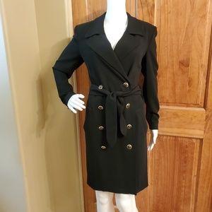 Escada double breasted wool coat dress
